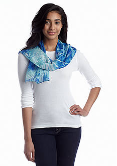 Kim Rogers® Tropical Leaves Oblong Scarf