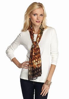Kim Rogers® Overlapping Leaves Scarf
