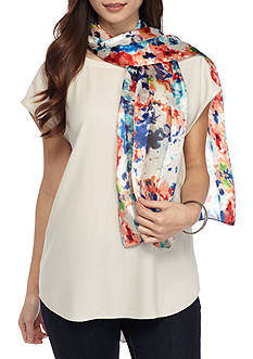 Kim Rogers Watercolor Floral Oversized Scarf