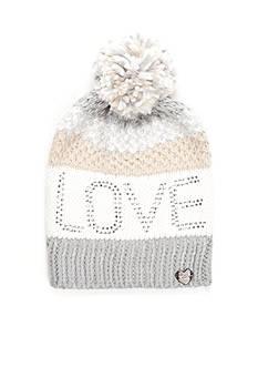 Betsey Johnson Pom Pom Love Hat