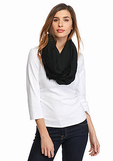Betsey Johnson Lace Border Infinity Scarf