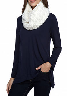 Betsey Johnson Embossed Heart Infinity Scarf