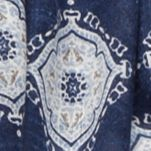 Juniors: Scarves Sale: Navy Cejon Rustic Mandalas Day Wrap