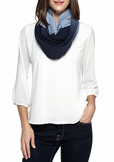 Cejon Ombre Super Soft Ruched Infinity Scarf