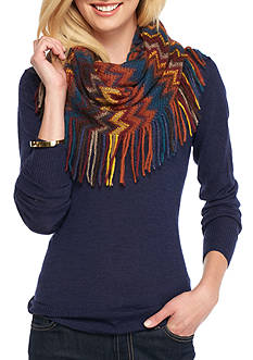 Steve Madden All Over Zig Zag Infinity Scarf