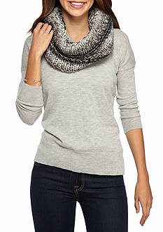 Steve Madden Time To Shine Hooded Infinity Scarf