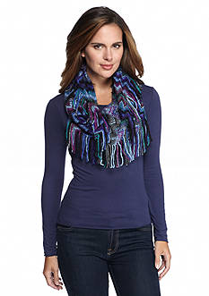 Steve Madden Waivering Decision Zig Zag Infinity Scarf