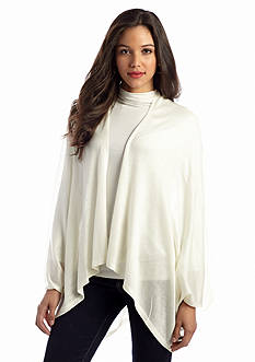 Cejon Shirt Tail Solid Knit Topper Wrap