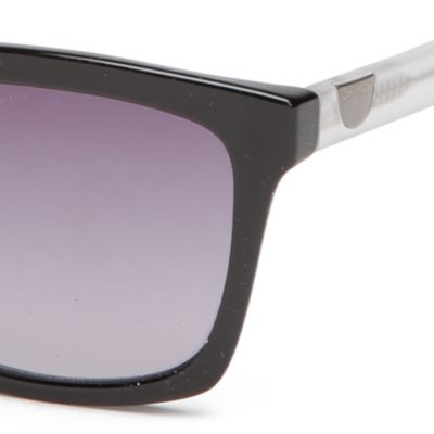 Handbags & Accessories: Calvin Klein Accessories: Black Calvin Klein Surf With Logo Button Sunglasses