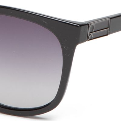 Fashion Sunglasses: Black Calvin Klein Large Surf Style With Metal Plaque Sunglasses