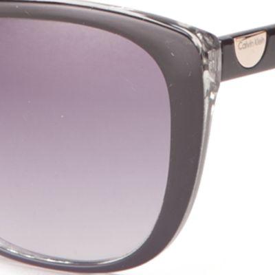 Calvin Klein Sunglasses: Black Calvin Klein Cat Eye Sunglasses