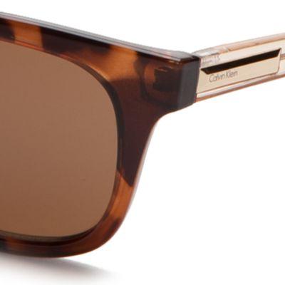 Calvin Klein Sunglasses: Soft Tortoise Calvin Klein Square Sunglasses