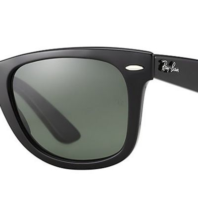 Men: Ray-ban Accessories: Black Ray-Ban New Classic Wayfarer® 52-mm. Sunglasses
