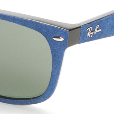 Handbags & Accessories: Ray-ban Accessories: Blue Ray-Ban Large Wayfarer Sunglasses