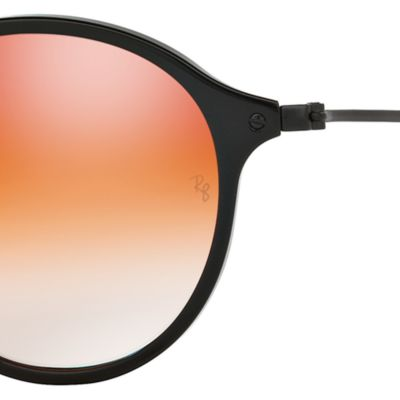 Round Sunglasses: Black/Red Ray-Ban Ombre Flash Round Sunglasses