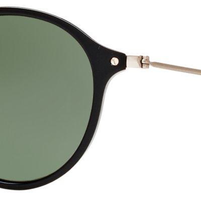 Round Sunglasses: Black/Green Ray-Ban Ombre Flash Round Sunglasses