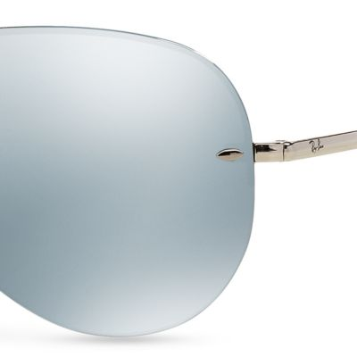 Men: Ray-ban Accessories: Green Ray-Ban Flash Mirror Aviator 59-mm. Sunglasses
