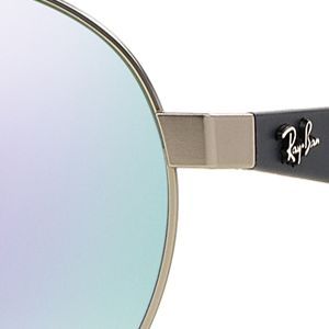 Men: Ray-ban Accessories: Silver/Purple Ray-Ban Flash Round Aviator 55-mm. Sunglasses