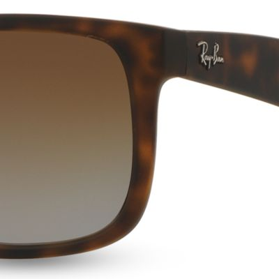 Men: Ray-ban Accessories: Tortoise Ray-Ban Justin 55-mm. Sunglasses