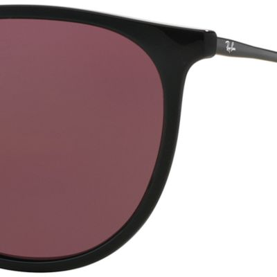 Round Sunglasses: Black Purple Ray-Ban Erika 54-mm. Sunglasses