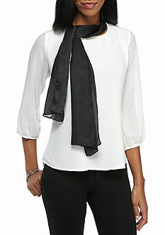 Ralph Lauren Solid Pleated Brianna Wrap