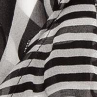 Handbags & Accessories: Scarves Sale: Black Lauren Ralph Lauren Livia Stripe Ruffle Scarf