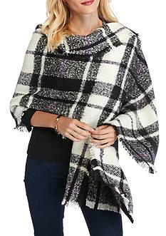 Ralph Lauren Mohair Plaid Blanket Wrap