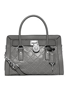 MICHAEL Michael Kors Micro Stud Hamilton Quilted East West Satchel