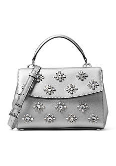 MICHAEL Michael Kors Ava Extra-Small Jewel Leather Satchel