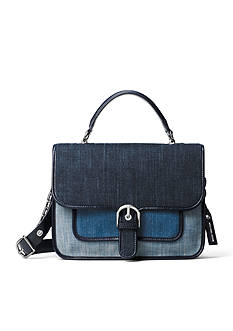 MICHAEL Michael Kors Cooper Large Denim Satchel