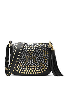 MICHAEL Michael Kors Jenkins Stud Brooklyn Medium Saddle Bag