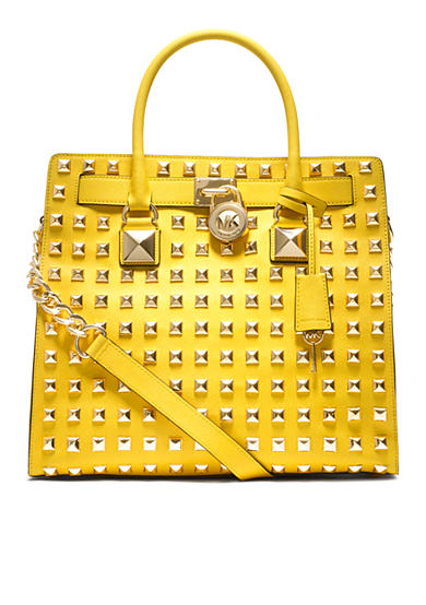 MICHAEL Michael Kors Hamilton North South Tote Studded
