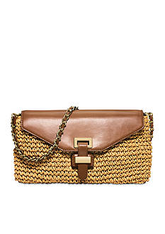 MICHAEL Michael Kors Naomi Large Straw Clutch