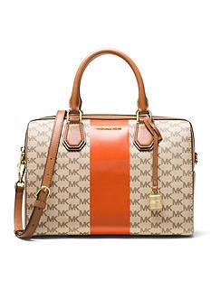 MICHAEL Michael Kors Center Stripe Mercer Medium Duffle Bag