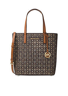 MICHAEL Michael Kors Hayley Medium Perforated Logo Tote