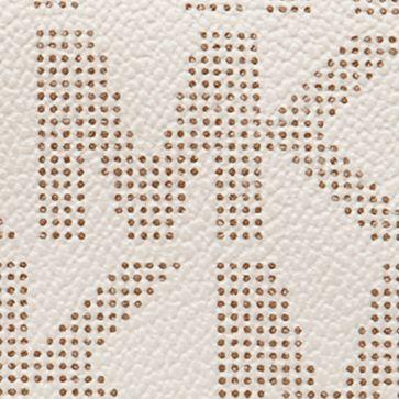 Brown Wallets: Vanilla MICHAEL Michael Kors MK Logo PVC Checkbook Wallet