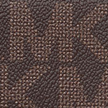 Brown Wallets: Brown MICHAEL Michael Kors MK Logo PVC Checkbook Wallet