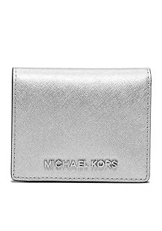 MICHAEL Michael Kors Jet Set Metallic Saffiano Leather Card Holder