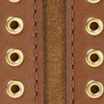 Purple Wallets: Dark Caramel MICHAEL Michael Kors Brooklyn Grommet Large Wristlet
