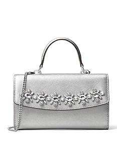 MICHAEL Michael Kors Ava Jewel Large Leather Crossbody