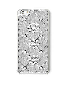 MICHAEL Michael Kors Embellished Leather-Inlay iPhone® 6 Plus Cover