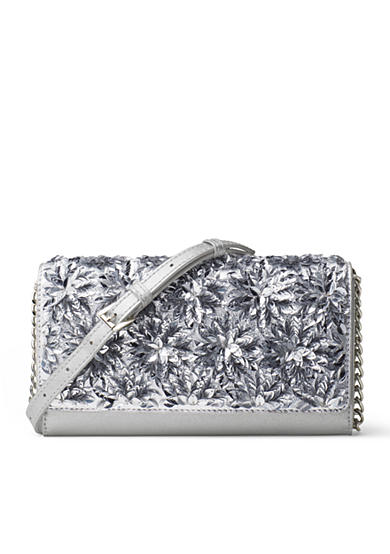MICHAEL Michael Kors Flora Burst Extra-Large Wallet On A Chain