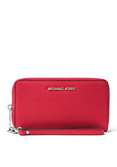 MICHAEL Michael Kors Jet Set Travel Large Saffiano Leather Smartphone Wristlet