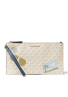MICHAEL Michael Kors Illustrations Fly Away Large Zip Clutch