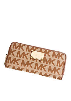 MICHAEL Michael Kors Signature Zip Around Continental Wallet