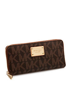 MICHAEL Michael Kors PVC Monogram Zip Around Continental Wallet