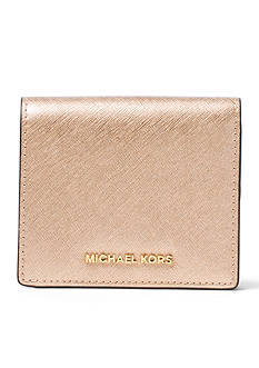 MICHAEL Michael Kors Jet Set Travel Metallic Leather Carryall Card Case