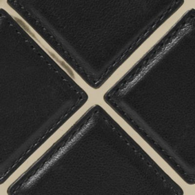 Designer Tech Accessories: Black MICHAEL Michael Kors Jet Set Travel - Diamond Quilt Large Flat MF Phone Case