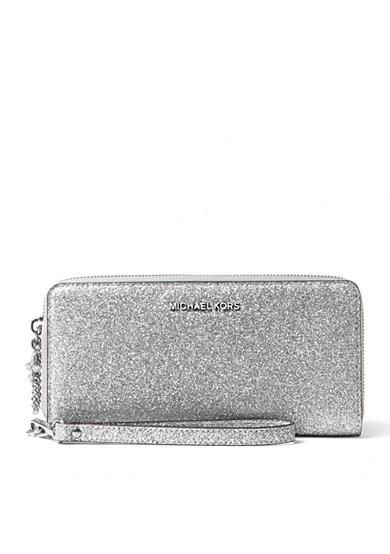 MICHAEL Michael Kors Alex-Glitter Travel Continental Wallet