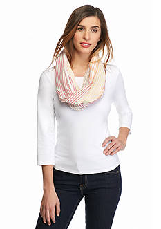 Collection XIIX Colorblock Stripe Infinity Scarf